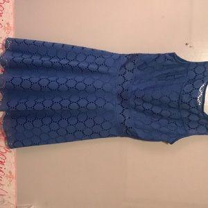 Peek-a-boo cut out blue dress